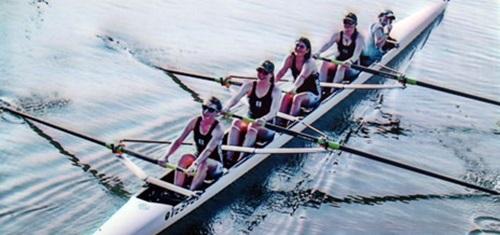 Girls Rowing team at Sarasota's Benderson Park