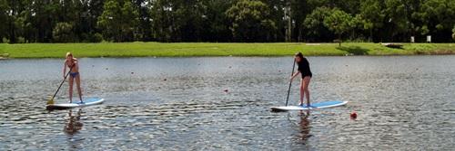 Paddle boarding at Sarasota's Benderson Park