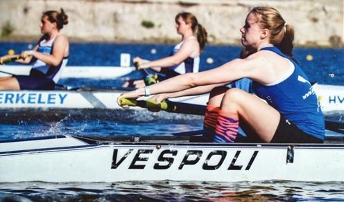 Girls Rowing team at world class rowing park in Sarasota Florida