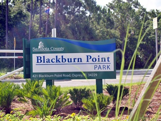 Blackburn Point Park sign