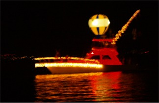 Sarasota Boat Parade of Lights on Sarasota Bay Florida