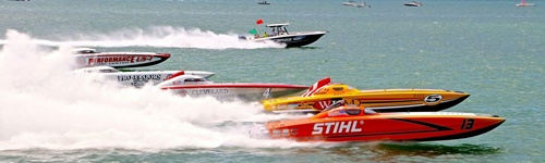 P1 Powerboat Racing off Lido Beach, Sarasota, Florida