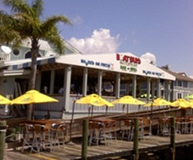 Boatyard Waterfront Bar and Grill facing Sarasota bay