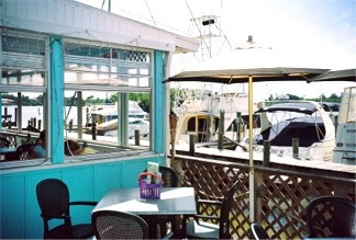The outdoor deck at the Casey Key Fish House