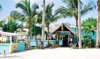 Outside at the Casey Key Fish House on Casey Key, Florida