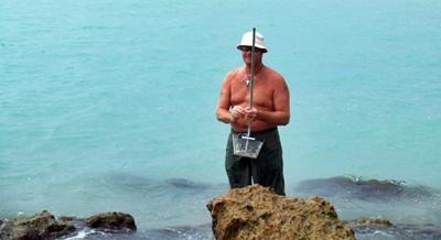 Shark tooth hunting at Caspesen beach venice Florida