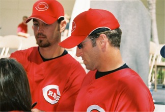 Cincinnati ball players at the Reds Rally in Sarasota Florida
