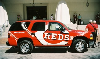 Cincinnati Reds Rally Official Jeep Downtown Sarasota