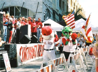 Ceremonies at the Cincinnati Reds Rally in Downtown Sarasota