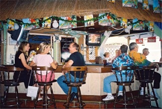 Tiki Hut Bar at The Boatyard Waterfront Grill, Sarasota