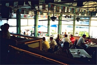 Indoor dining at the Boatyard Waterfront Bar & Grill on the Water in Sarasota