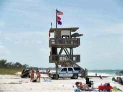 Coquina Beach Anna Maria Island Life guard tower
