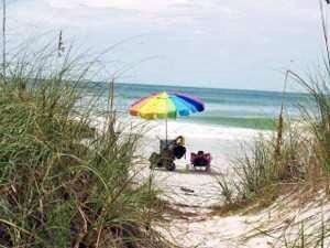 A peaceful spot on Coquina Beach Anna Maria Island Florida