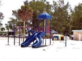 Playground area at Coquina Beach Anna Maria Island