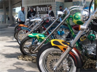 The Sarasota Motorcycle festival in downtown Sarasota Florida