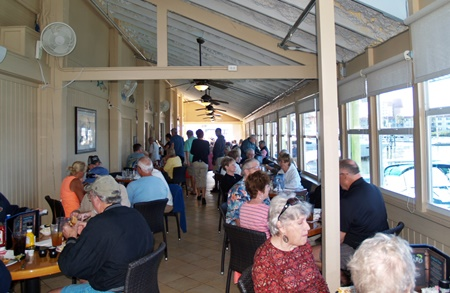 Inside dining room at Dockside Waterfront Grill.