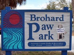 Brohard Beach Paws Park and Dog Beach Sign Venice