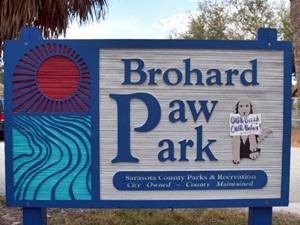 Brohard Beach Paws Park and Dog Beach Sign Venice
