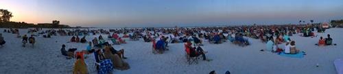 Easter Sunrise Service on Siesta Key Beach, Florida