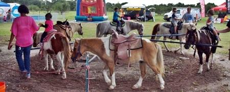 Pony rides at a Sarasota Fall Pumpkin Festival