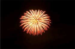 Fireworks over Venice, Florida