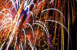 Fireworks over Anna Maria Island, Florida