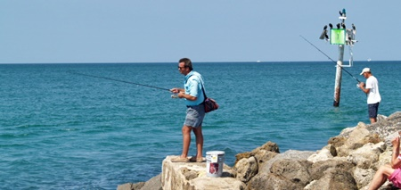 Fishing at the Venice Jetty
