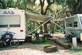 Big Flats Campground at Myakka River State Park