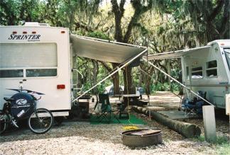 Big Flats Campground at Myakka River State Park