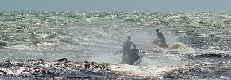 Jet skiing off Venice Jetty