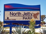North Jetty Park Sign Casey Key Florida