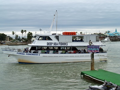 Deep sea fishing charter at Johns Pass