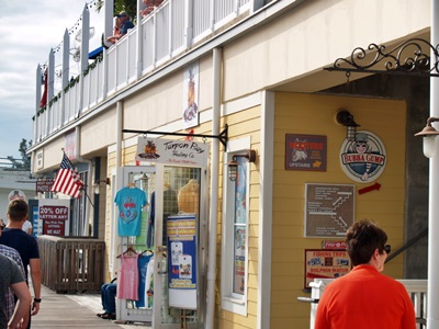The boardwalk shops at Johns Pass