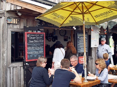 A cafe at Johns Pass Boardwalk
