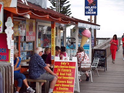 Ice cream stand at Johns Pass