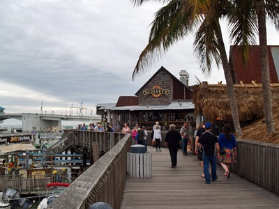 Johns Pass boardwalk at Madeira Beach, Florida