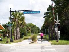 Biking on the Legacy Trail in Sarasota Florida