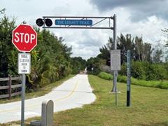 Biking on the Legacy Trail in Sarasota