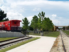 Sarasota Biking on the Legacy Trail at the Venice Train Depot