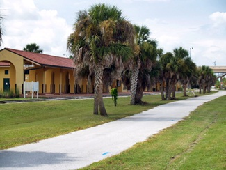 Venice Train Depot the end of the Sarasota Biking Legacy Trail