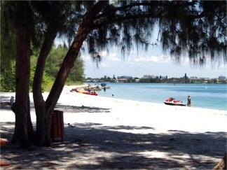South Lido Key Beach Park bay side