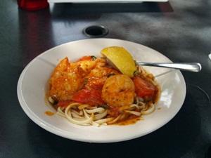Shrimp Scampi at Mar Vista Restaurant and Bar Longboat Key Florida Dining