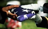Memorial day color guard flag