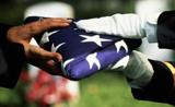 Memorial day color guard flag