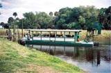 The Myakka Gator Gal Airboat coming to dock