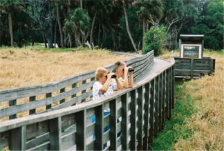 Visitors at the Myakka River State Park Birdwalk