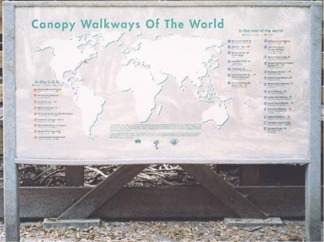 Canopy Walkways of the World sign at Myakka Park