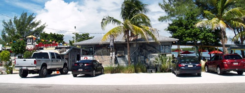 Outside street view of New Pass Grill Sarasota Florida