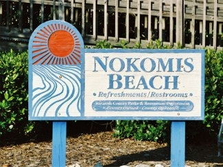 Nokomis Beach Welcome Sign