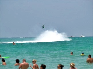 Offshore powerboat racing off Sarasota Florida